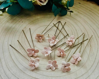 Mini Blush Hairpins