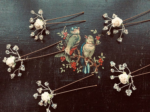 Rose Hairpins