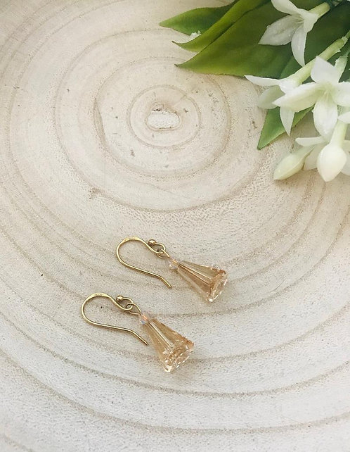 Classic gold crystal drop earrings