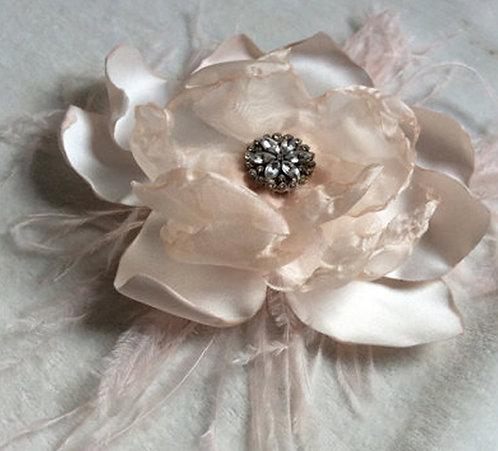 Blush flower fascinator