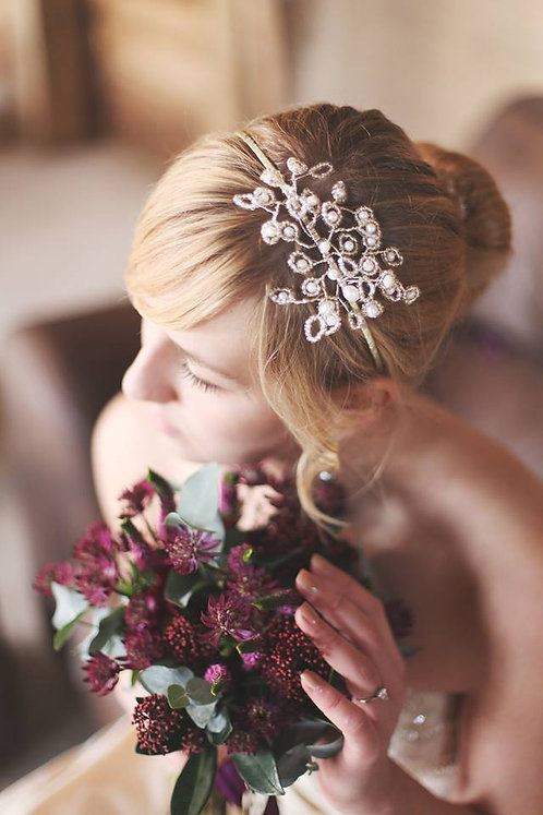 Daisy side tiara