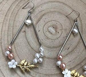Nature boho bridal earrings