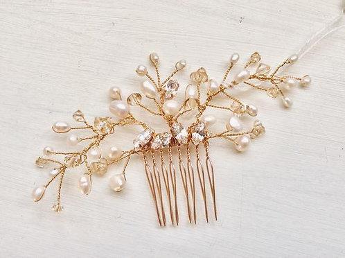 Rose gold mini comb