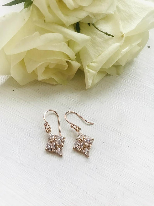 Classic rose gold crystal earrings