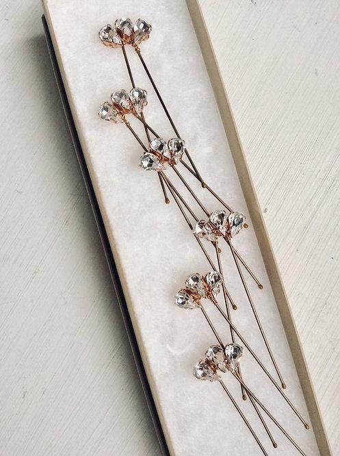 Art Deco Rose Gold Hairpins