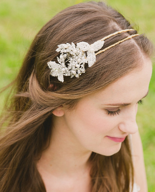 Cora side embroidered headdress