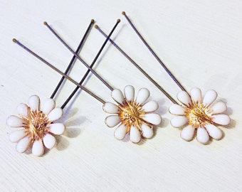 Gardenia hairpins