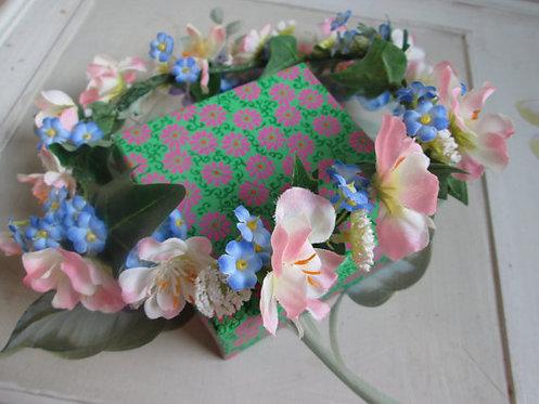 Handmade silk spring flower flowergirl circlets