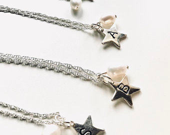 Personalised Star sterling silver necklace