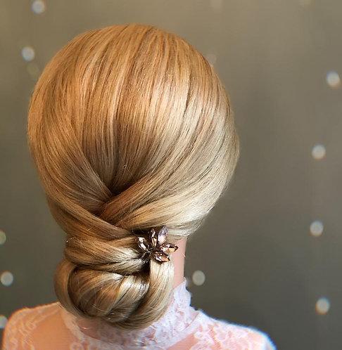 Rose gold sparkler hairpin