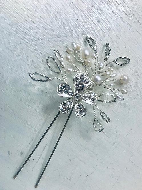Verona Silver Hairpin