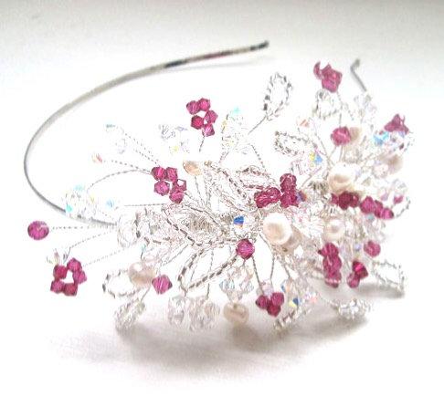 Fushia pink Lily headdress