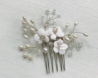 Silver Fleur Comb