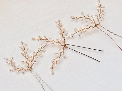 Gold Twiggy Hairpin