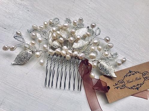 Winter Berries silver comb