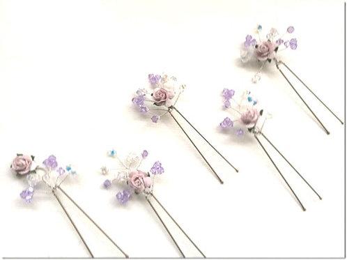 5 Rose Hairpins