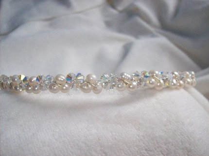 Alice pearl/crystal hairband