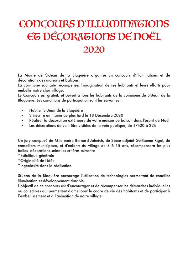 Règlement concours illumination SJB2020