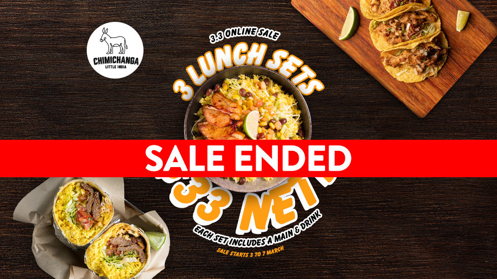3 Lunch Sets for $33 - SALE STARTS 3rd March 12:00hr - 7th March 12:00hr