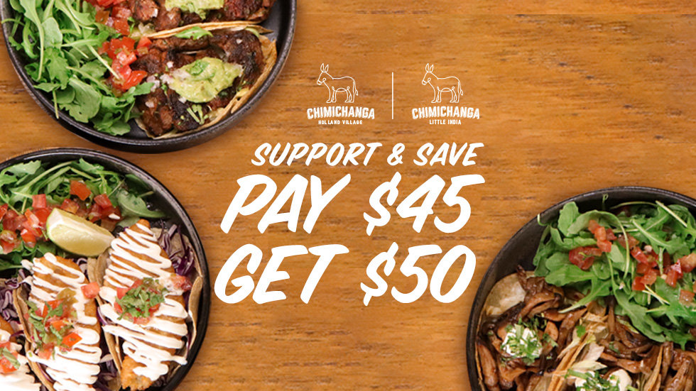Support & Save Dinning Voucher: $45 for $50