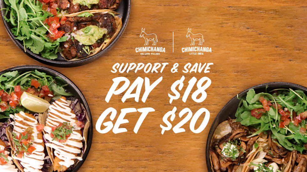 Support & Save Dinning Voucher: $18 for $20
