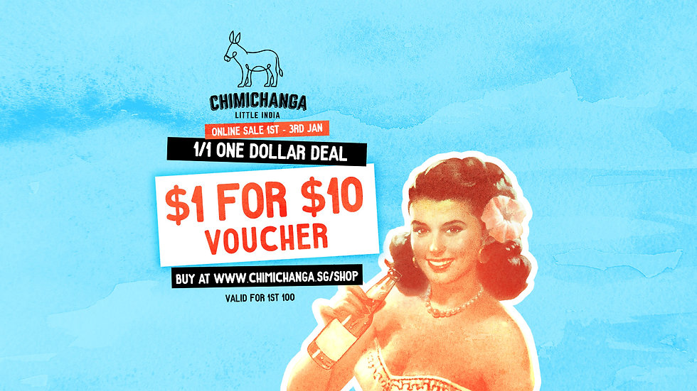 $1 for $10 Voucher - SALE STARTS 1st JAN 12:00hr - 3 JAN 23:59hr