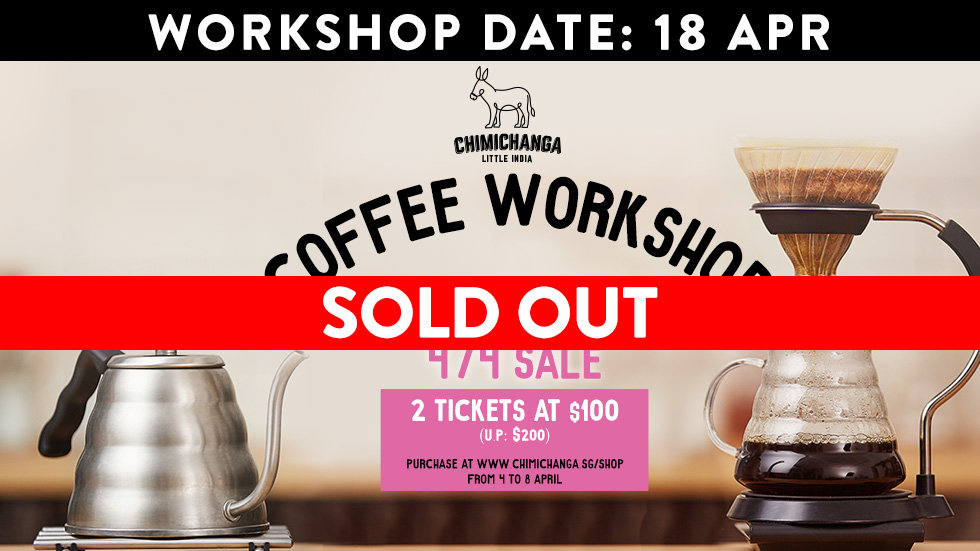 Coffee Workshop Slot: 18th April (sale starts 4/4)