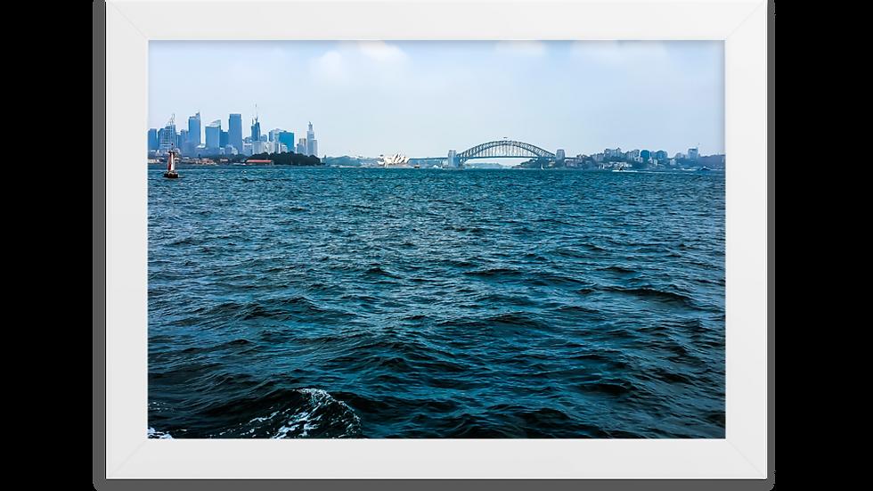 Framed matte paper poster - Sydney Harbour & City Skyline