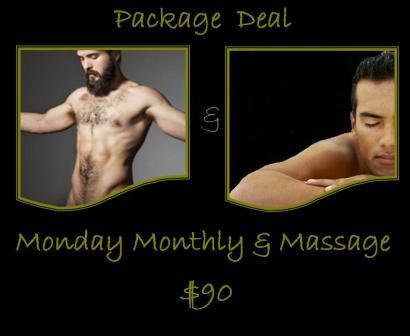 Package Deal  / Monday Monthly Class & Massage