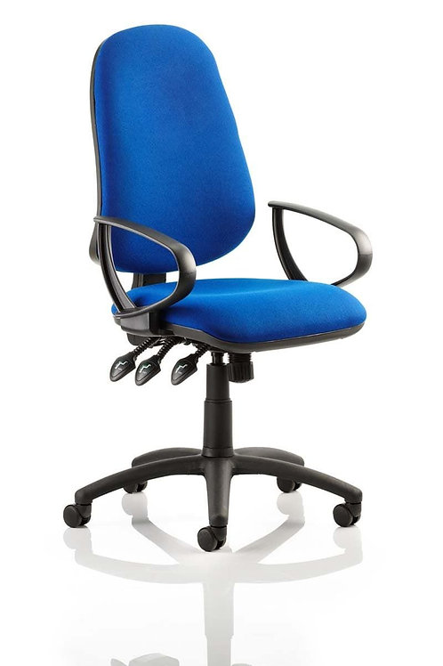 Eclipse Plus XL Lever Task Operator Chair Blue With Loop Arms