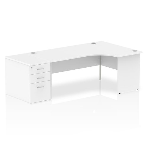 Impulse 1600mm Right Hand Crescent Desk Panel End Leg Package Deal