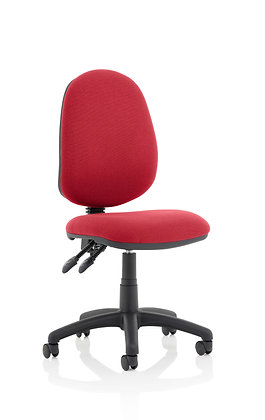Eclipse Plus II lever Task Operator Chair Wine Without Arms