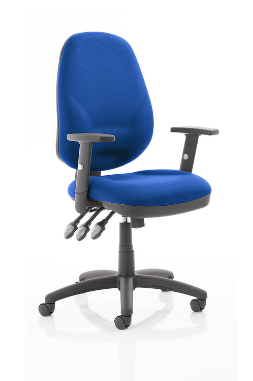 Eclipse Plus XL Lever Task Operator Chair Blue With Height Adjustable Arms