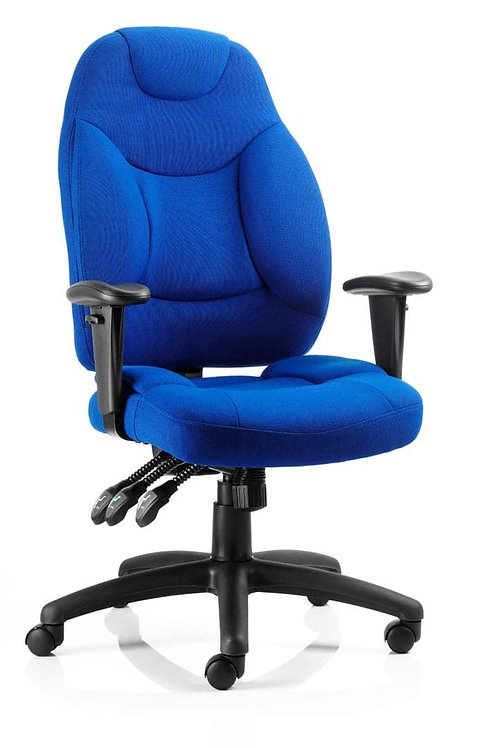 Galaxy Task Operator Chair Blue Fabric With Arms