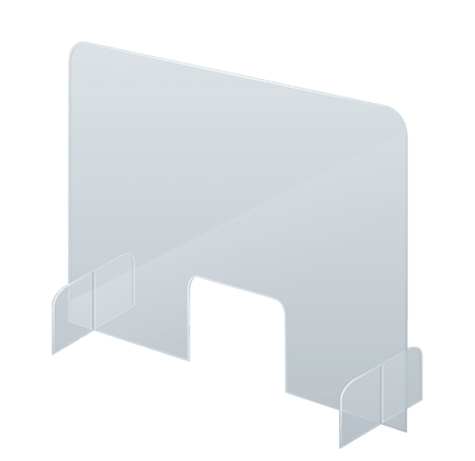 Counter & Desk Protection Screen, Acrylic Glass, 85 x 70 cm