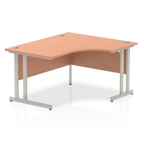 Impulse 1400 Right Hand Silver Crescent Cantilever Leg Desk Beech