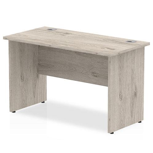 Impulse 1200/600 Rectangle Panel End Leg Desk Grey Oak