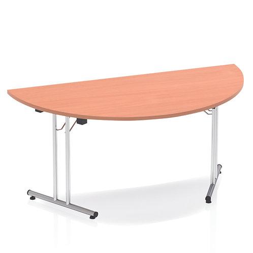 Impulse 1600 Folding Semicircle Table Beech