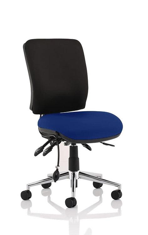 Chiro Medium Back Bespoke Colour Seat Stevia Blue No Arms
