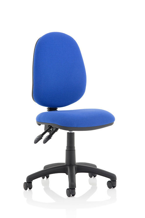 Eclipse Plus II Lever Task Operator Chair Blue Without Arms