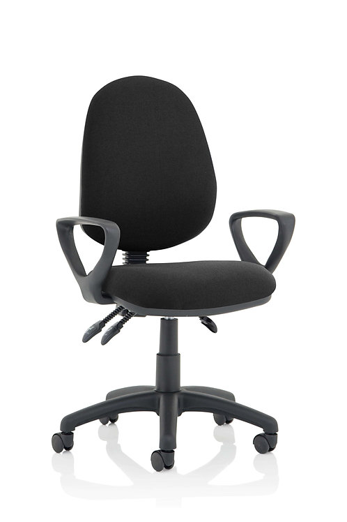 Eclipse Plus III  Lever Task Operator Chair Black With Loop Arms