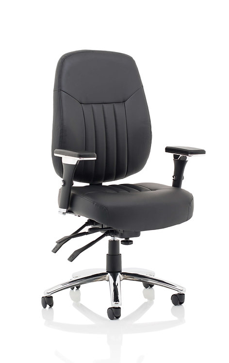 Barcelona Deluxe Black Leather Operator Chair