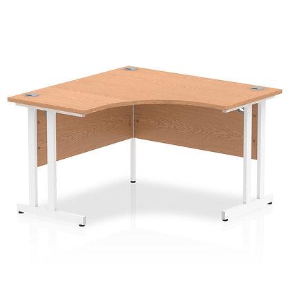 Impulse 1200 Corner Desk White Cantilever Leg Desk Oak