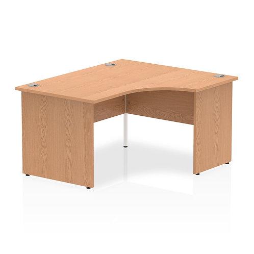 Impulse 1400 Right Hand Panel End Leg Desk Oak