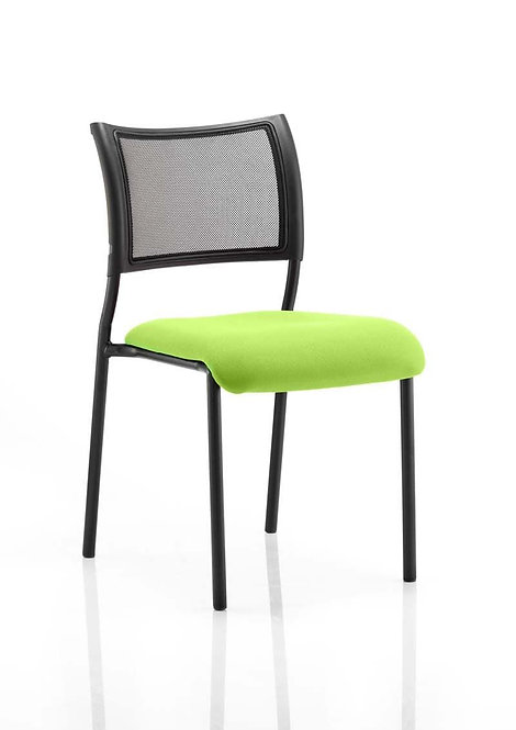 Brunswick No Arm Bespoke Colour Seat Black Frame myrrh Green