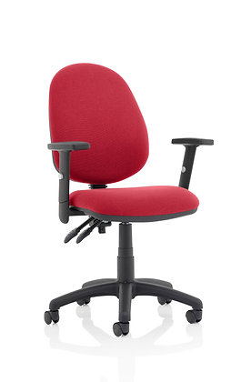 Eclipse Plus II lever Task Operator Chair Wine With Height Adjustable Arms