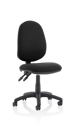 Eclipse Plus II Lever Task Operator Chair Black Without Arms