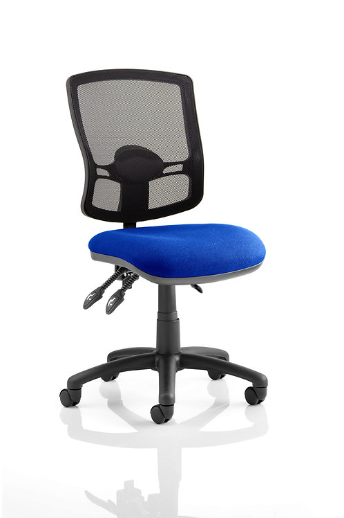 Eclipse Plus III Deluxe Mesh Back With Blue Seat