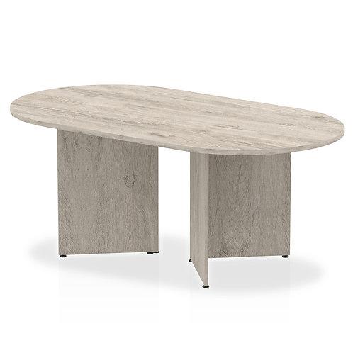 Impulse 1800 Boardroom Table Grey Oak Arrowhead