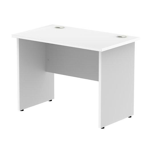 Impulse 1000/800 Rectangle Panel End Leg Desk White